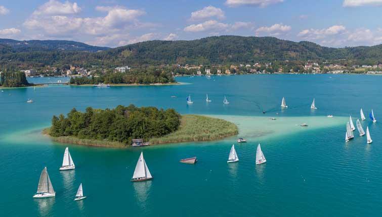 Wassersport, Velden, Wörthersee, Villa Lombardi, Segeln, Surfen, Stand up Paddling, Wakeboard, Wasserkskifahren, Badespaß