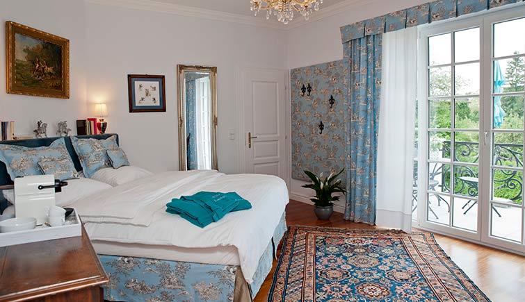 Villa Lombardi Room Blau, Blue, Urlaub, Kärnten, Velden, Wörthersee, Zimmer, buchen